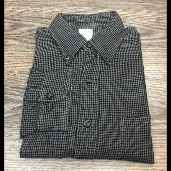 Brooks Brothers Other - Brooks Brothers Grey & Black Houndstooth Shirt L